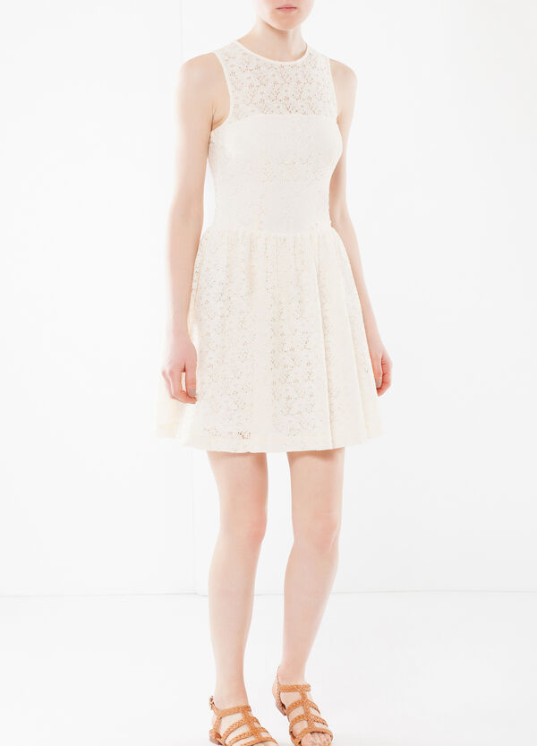 Sleeveless dress in lace | OVS