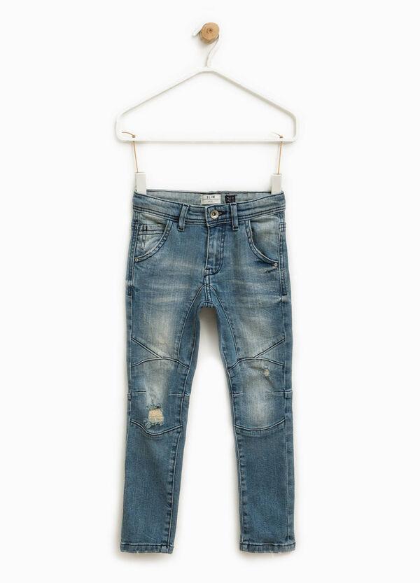 Worn-effect slim-fit stretch jeans | OVS
