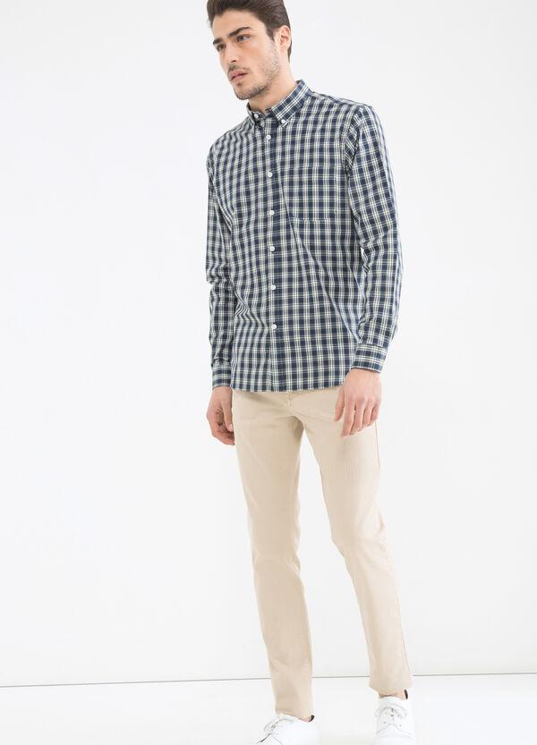 Camicia tartan in misto cotone | OVS