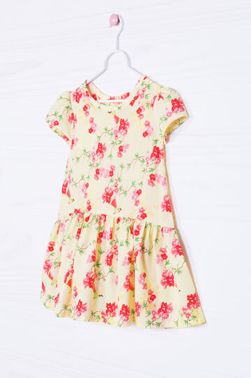Dress with floral pattern, Yellow, hi-res