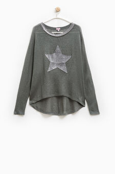 Pullover with sequins, Smoke Grey, hi-res