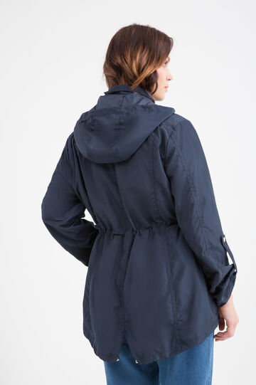 Curvy parka with large pockets, Navy Blue, hi-res