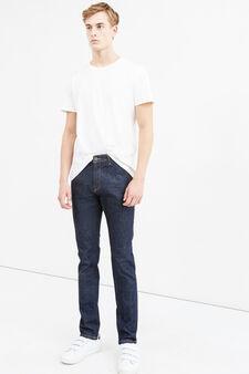 Jeans slim fit stretch tinta unita, Denim, hi-res