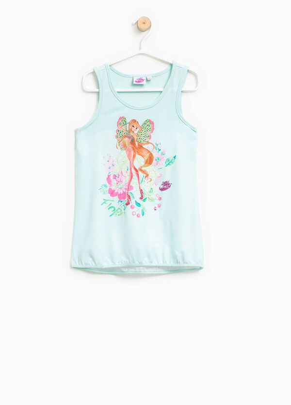 Top with Winx print and diamantés | OVS