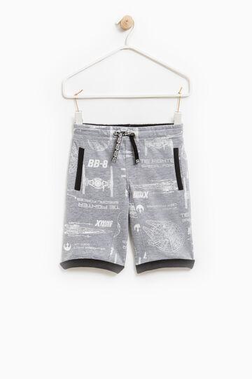 Bermuda shorts with Star Wars drawstring, Grey, hi-res