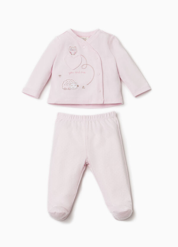 100% cotton outfit with patch | OVS