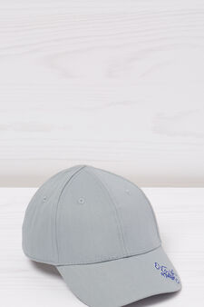 Embroidered cotton baseball cap, Grey, hi-res