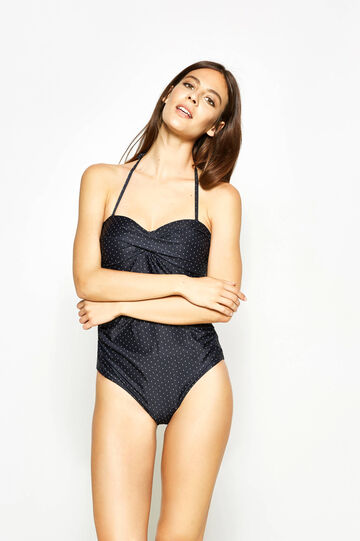 One-piece swimsuit with sweetheart neckline