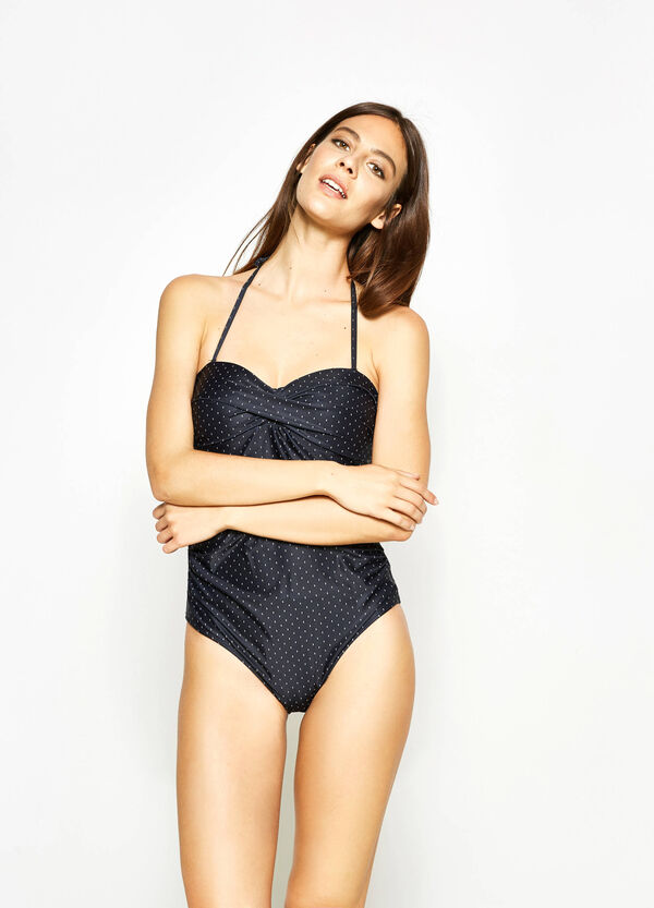 One-piece swimsuit with sweetheart neckline | OVS