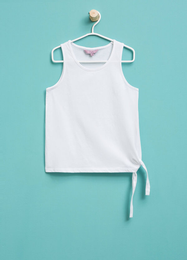 100% cotton top with ties | OVS