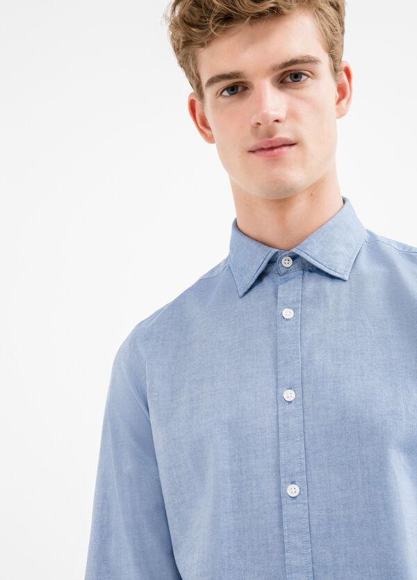 Camicia casual slim fit puro cotone | OVS