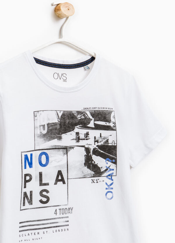 Printed T-shirt in 100% cotton | OVS