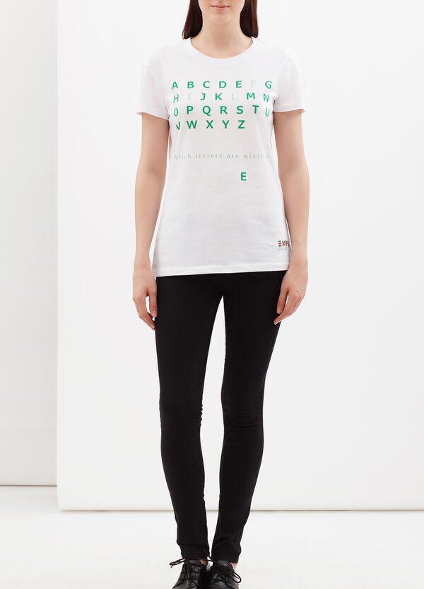 T-shirt EXPO2015 con stampa lettering | OVS