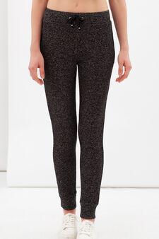 Pantaloni sportivi stretch, Bianco/Nero, hi-res