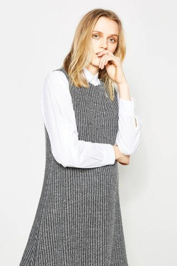 Chunky knit sleeveless jumper dress