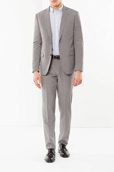 Elegant slim-fit suit, Light Grey, hi-res