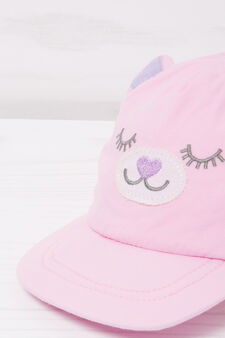 Baseball cap with patches, Pink, hi-res