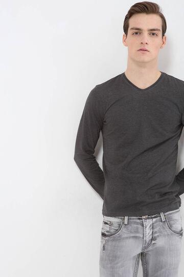 T-shirt puro cotone scollo a V