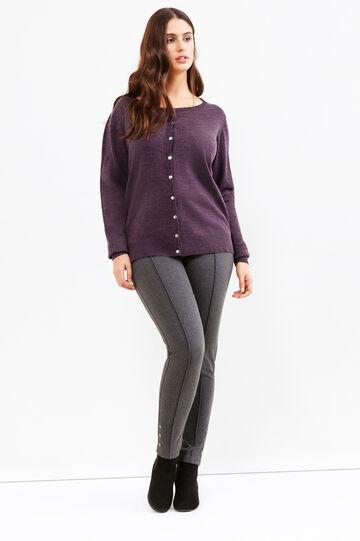 Curvy knitted cardigan, Purple, hi-res