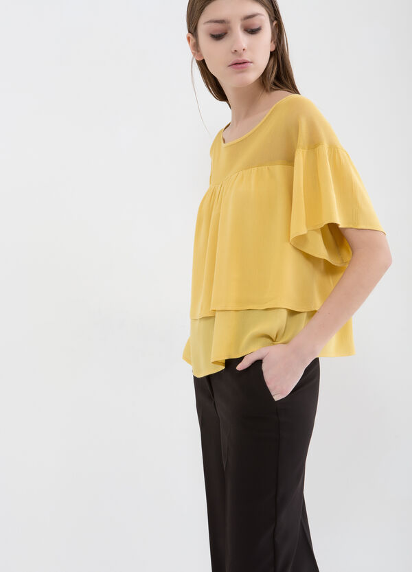 Blouse in cotton and viscose blend | OVS