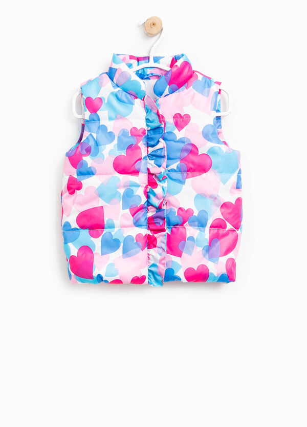 Padded gilet with heart pattern | OVS