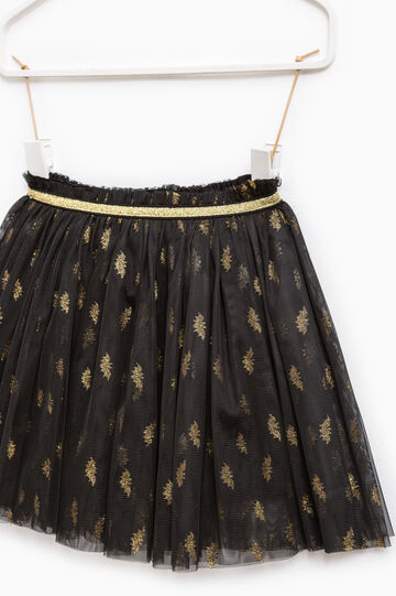 Tulle skirt with contrasting glitter, Black, hi-res