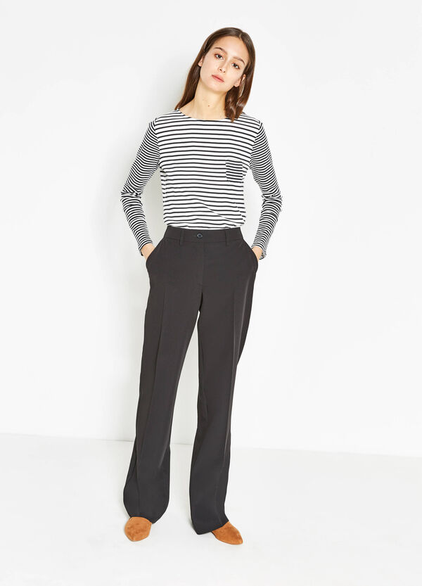 Pantaloni con piega in viscosa stretch | OVS