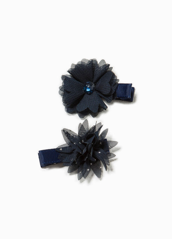 Set of two hair clips with flower   OVS