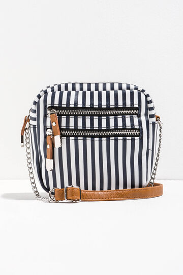 Shoulder bag with striped pattern