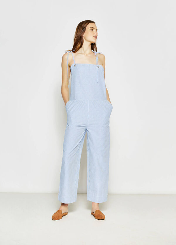 100% cotton striped jumpsuit | OVS
