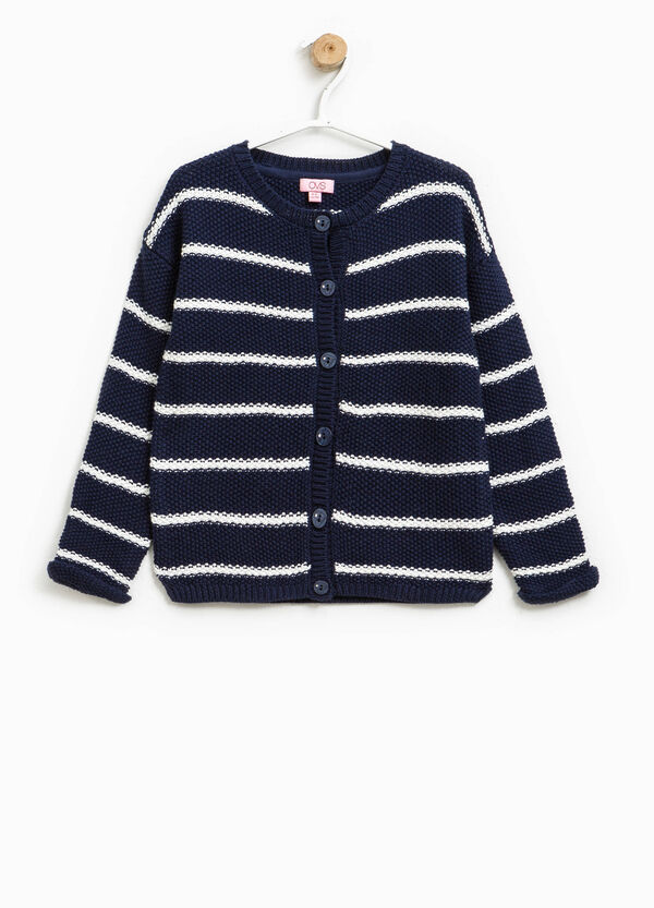 Striped cardigan in 100% cotton | OVS