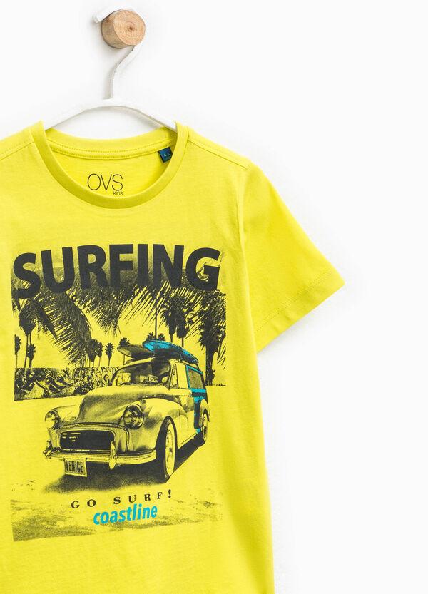 T-shirt in cotone girocollo stampata | OVS