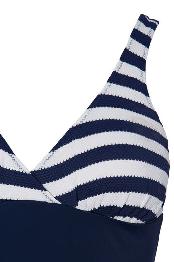 Curvy one-piece stretch swimsuit., Blue, hi-res