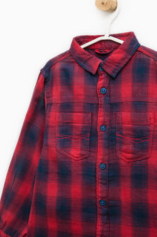 Check shirt in 100% cotton, Blue, hi-res