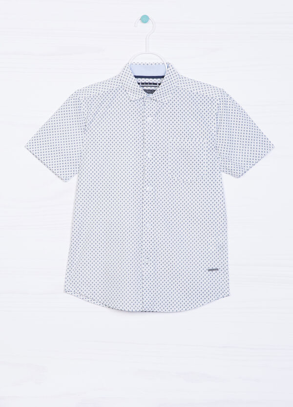 100% cotton shirt with all-over print | OVS