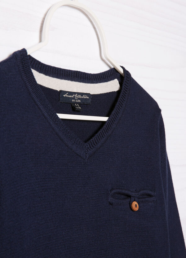 V-neck cotton pullover | OVS
