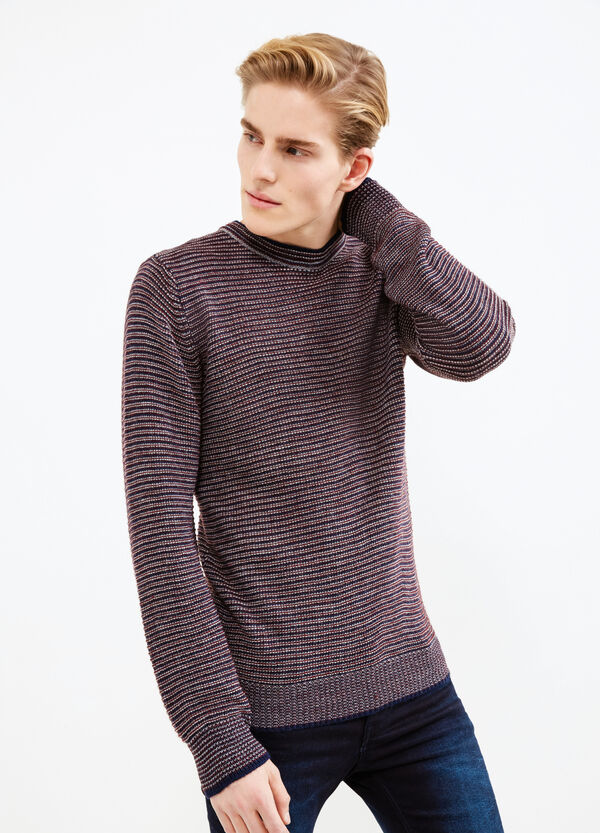Striped alpaca blend pullover | OVS