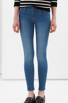 Jeans skinny con cerniera sulle caviglie, Lavaggio chiaro, hi-res
