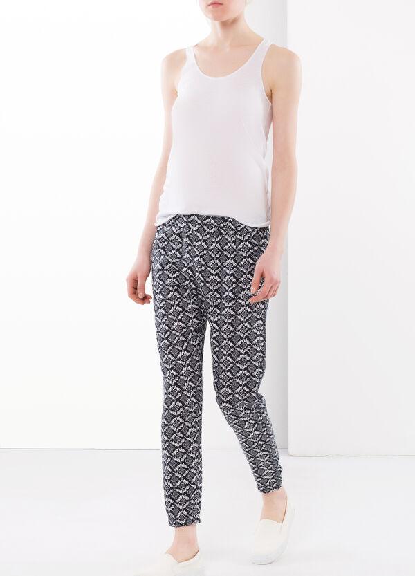 Polka dot baggy trousers | OVS