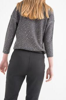 Pullover tricot con paillettes, Grigio scuro, hi-res