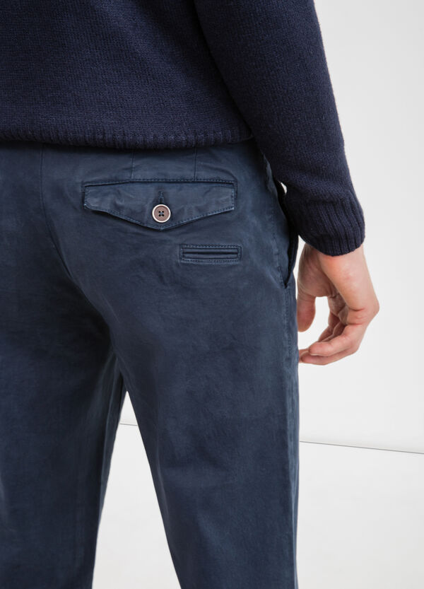 Slim fit, stretch cotton chino trousers | OVS