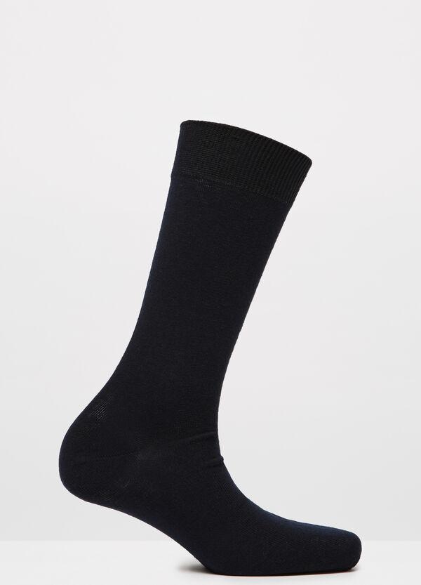 Solid colour cotton blend socks | OVS