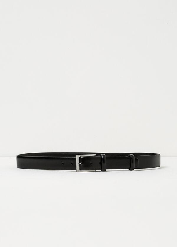 Cintura liscia in pelle doppio passante | OVS