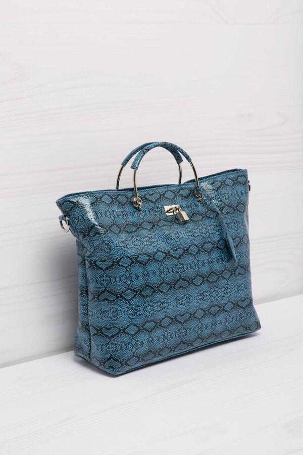 Leather look printed handbag | OVS