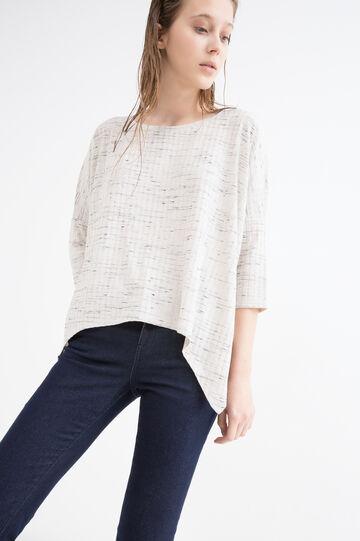 Viscose blend patterned T-shirt
