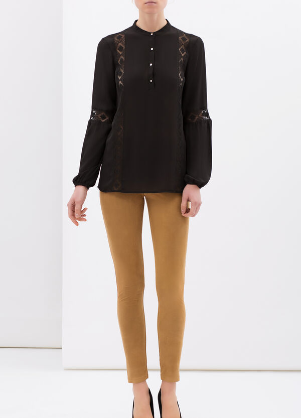 Stretch leggings with faux pockets | OVS
