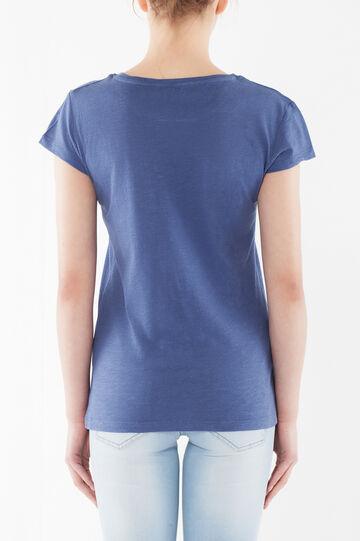 Cotton T-shirt, Soft Blue, hi-res