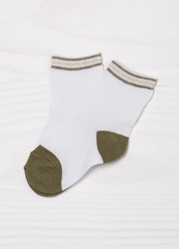 Set tre paia di calze fantasia a righe | OVS