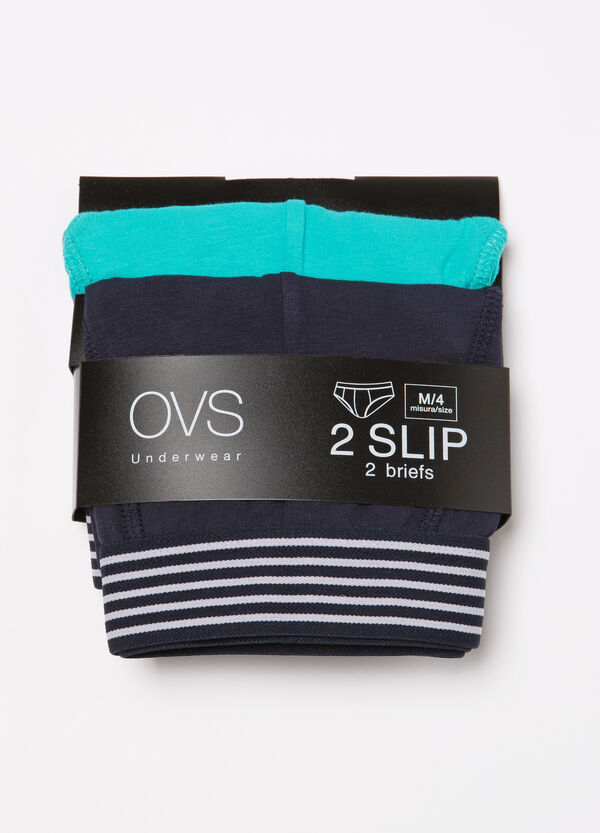 Two-pack plain stretch briefs | OVS