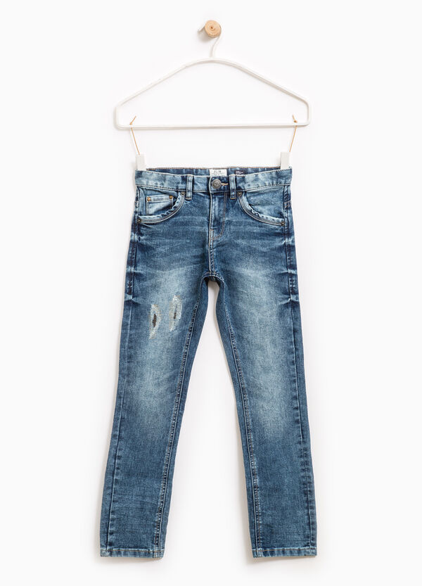 Used-effect slim-fit stretch jeans   OVS